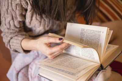 Reading romance novel