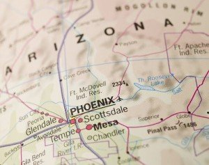 Map of Phoenix in Arizona