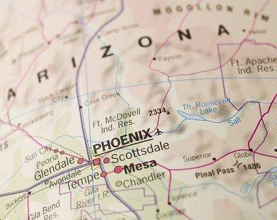 Map of Phoenix in Arizona