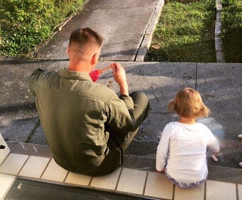 dad & daughter