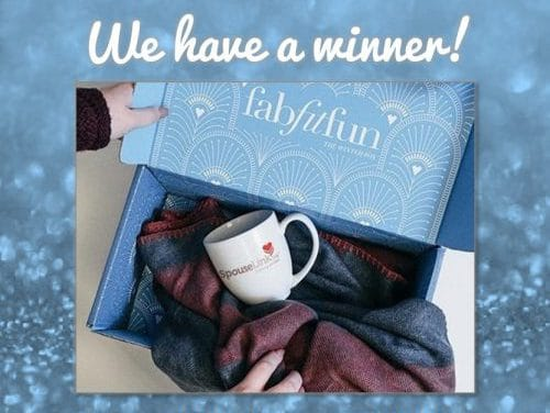 Congratulations to the Winner of SpouseLink's FabFitFun Subscription Giveaway