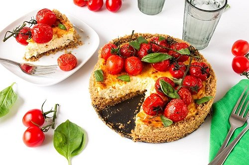 Recipe: A Tomato-Basil Cheesecake You Can Have for Dinner