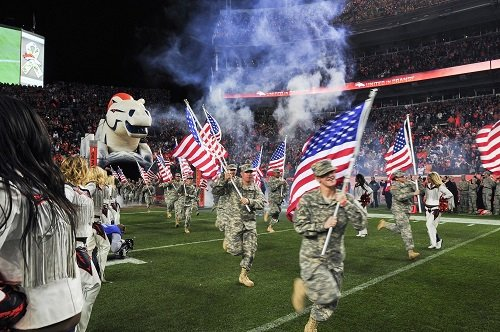 NFL Salute to Service Honors Military on Veterans Day