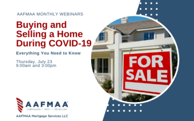 AAFMAA Webinar: Everything You Need to Know About Buying and Selling a Home During COVID-19