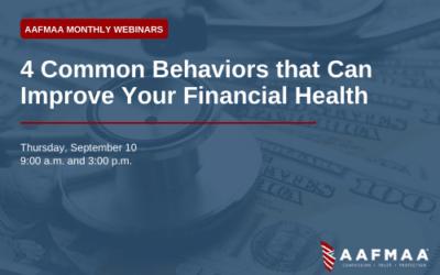 AAFMAA Webinar: 4 Common Behaviors That Can Improve Your Financial Health