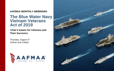 AAFMAA Webinar: What the Blue Water Navy Vietnam Veterans Act of 2019 Means for Veterans and Their Survivors