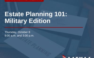 AAFMAA Webinar: Estate Planning 101