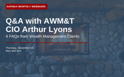 AAFMAA Webinar: 4 FAQs from Wealth Management Clients