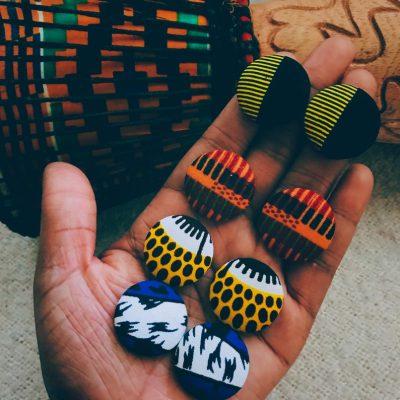 African Ankara earrings from Honey Bea Hive