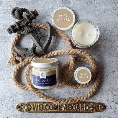 Goat Locker candles from Fair Winds Candle Company