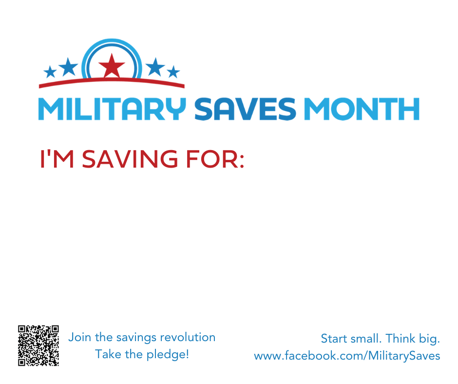 I'm Saving For... Sign from Military Saves