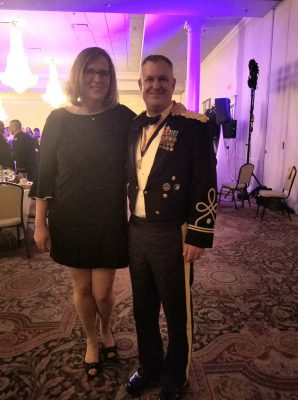 Couple at the Army Ball