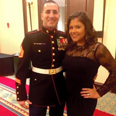 Couple at a Military Formal