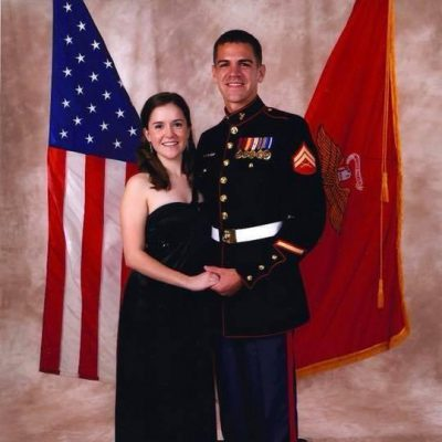 AAFMAA Marketing Manager and Military Spouse, Kelsey, and her husband at the Marine Corps Ball.