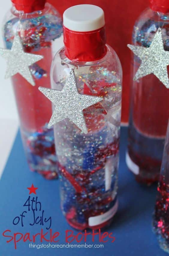 4th of July Sensory Bottles