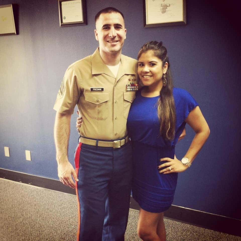 Military Couple after their elopment