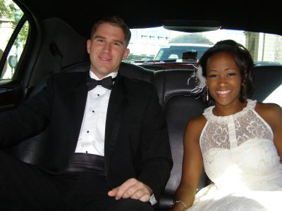 Couple at their Military Elopement in Vegas