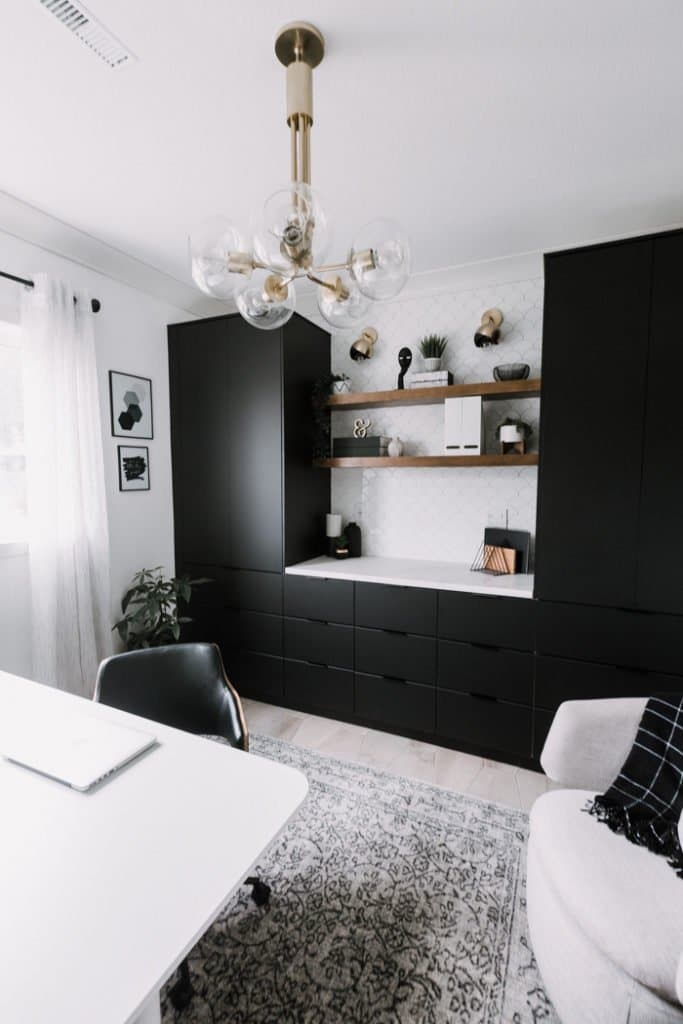 Sleek and Stylish Home Office with Storage
