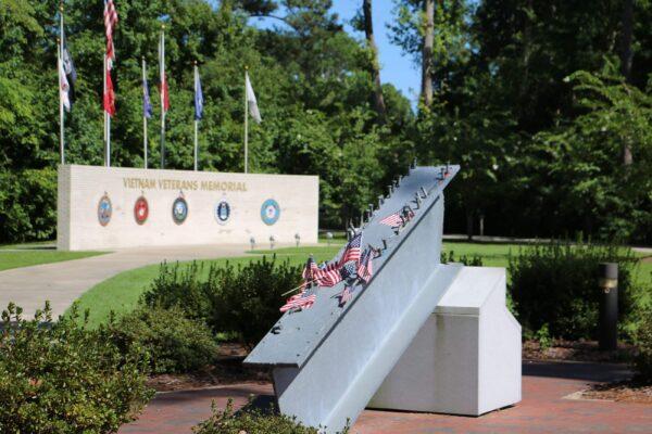 9/11 Memorial at Lejeune Memorial Gardens